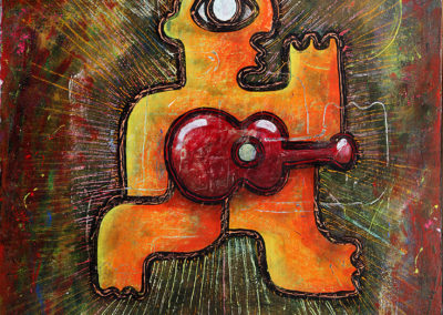 L' homme guitare - 115 X 180 cm